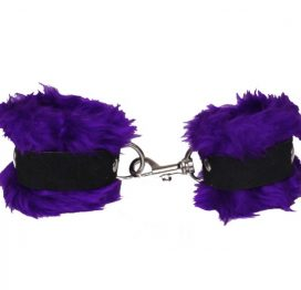 Cuffs Fleece Lined Purple