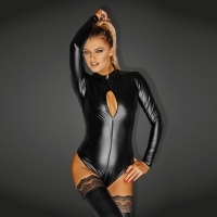 Bodysuit with 3 way zipper Lge