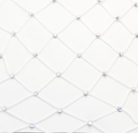 Diamente Fishnets White