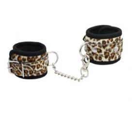 Animal Print Cuffs White
