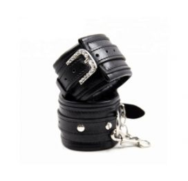 Black Wrist Cuff Diamante Blk ll