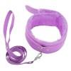BB Fur Lined Collar & Chain Lead Purple