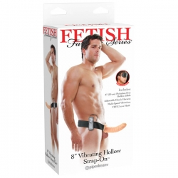 "Fetish Fantasy 8"" Hollow Strap- OnVibe d"