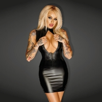 f127l Mini Dress with Leather and lacing