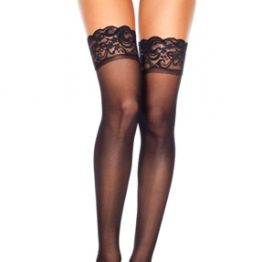 4110 Lace Top Sheer Thigh High