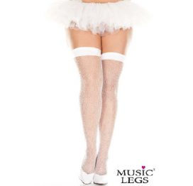 ml4900q Fishnet Thigh High White Plus