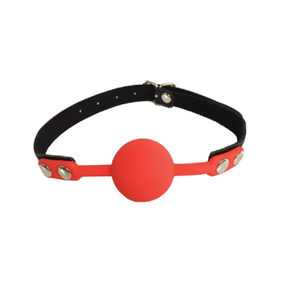 Gag Silicone Mouth Piece Red