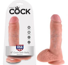 King Cock 8 Cock with Balls Flesh