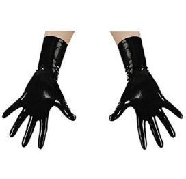 Latex Gloves Short Blk Lrg