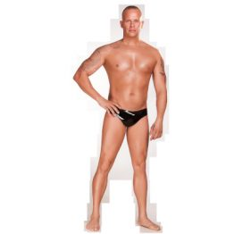 Latex Mens Brief Blk Med