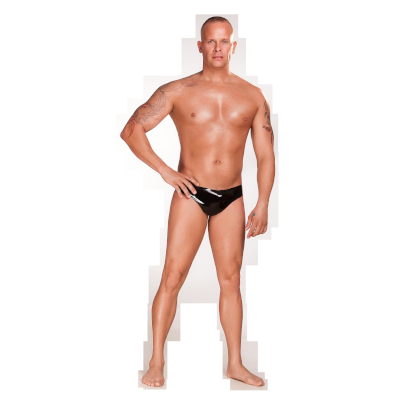 Latex Mens Brief Blk Sml