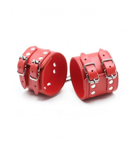 Double buckle Wrist Cuff Red