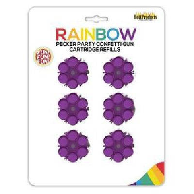 Rainbow Pecker Confetti Gun Cart