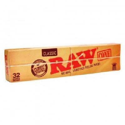 Raw Cones Classic 32pk PreRoll KING