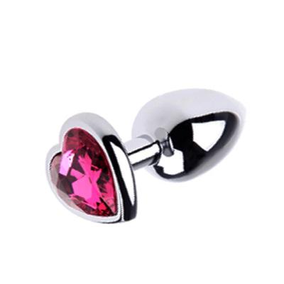 Med Metal Plug Pink Heart