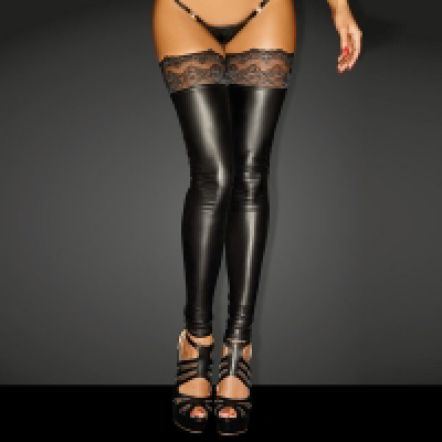 Wetlook Stockings w silico Lace Lrge