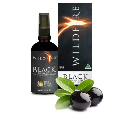 Wildfire Black 4 in 1 Pleasure Oil 100ml