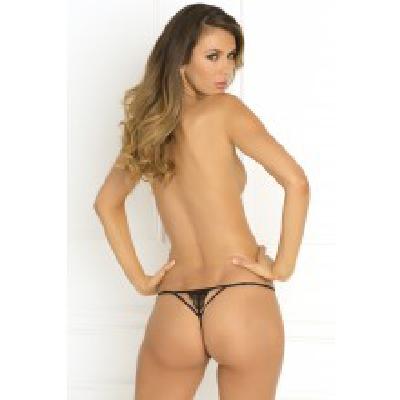 Got Your Back Crotchless Thong Blk M/L d