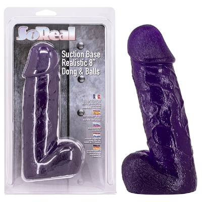 """So Real 8"""" Realistic Dong Purple"""