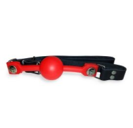 Silicone Ball Gag - Red 1.5