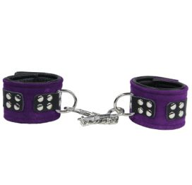 Wristcuffs Suede Chain Purple