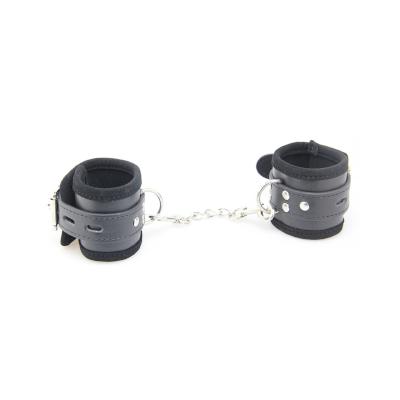 Velvet Lined Cuffs Black