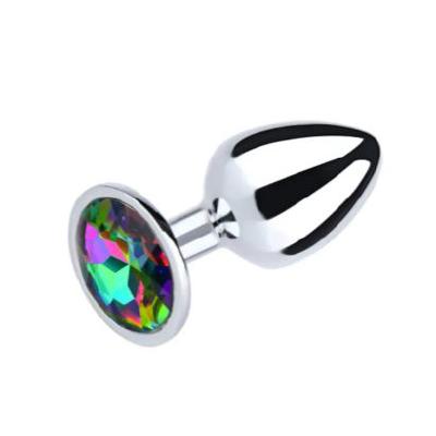 Large Metal Plug Rainbow Gem