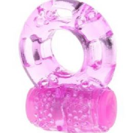 Jelly Cock Ring Vibrating Pink