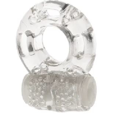 Jelly Cock Ring Vibrating Clear