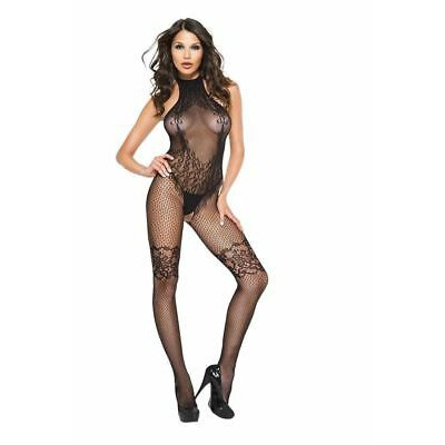 Halter Neck Lace C/Less Bodystocking