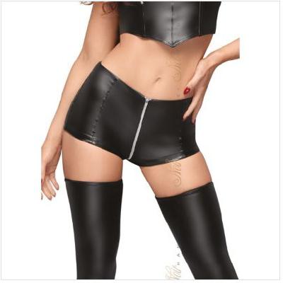 High Waist Shorts with Zipper M