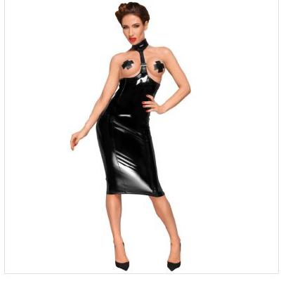 Dress Long 2 way Zipper with Choker S