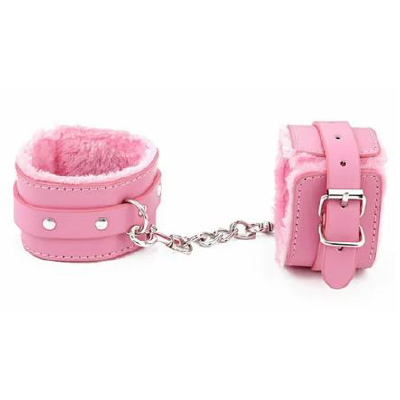 BB Fur Lined Cuffs Pink