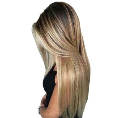 Wig Long Blonde Black Ambre