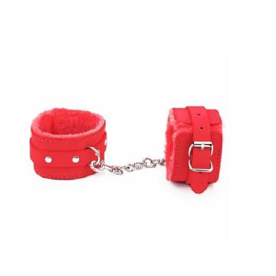 BB Fur Lined Cuffs Red