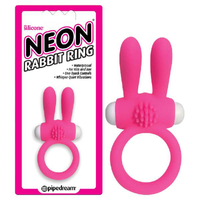Neon Rabbit Ring Pink