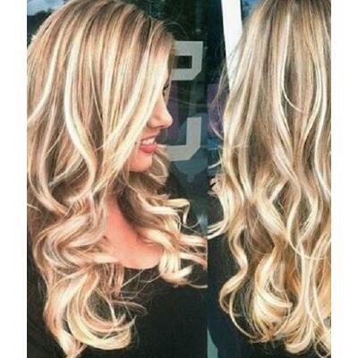 Wig Xlong Blonde Brown Ambre
