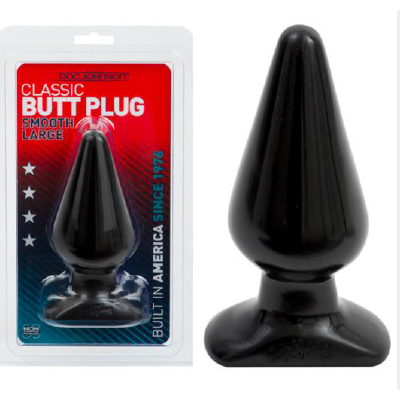 Classic Butt Plug Smooth Lge black