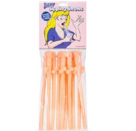Dicky Sipping Straws Flesh 10pk