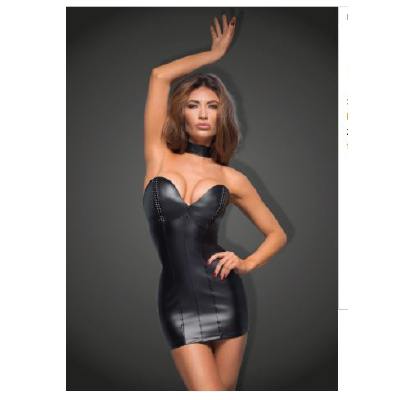 f172-xl Mini Dress with Ecoleather Cups