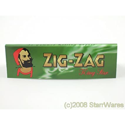 Papers: Zig Zag Green King Size d