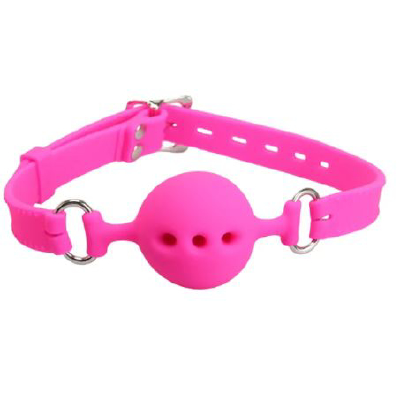 Silicone Breathable Ball Gag Pink