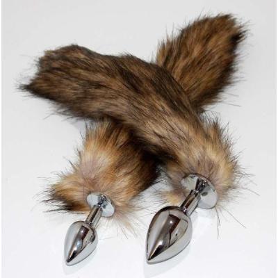 Black & Blonde Fox Tail Silver B/Plug