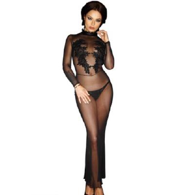 Noir Hanmade Dress Aplique