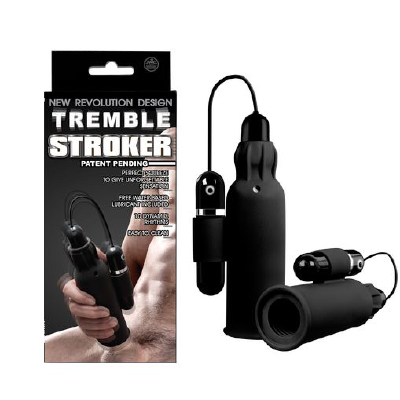 Tremble Stroker Silicon Mastur Black