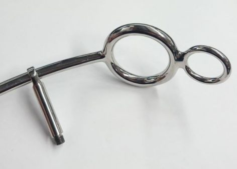 Steel Anal Hook w/ Cock Ring Sm