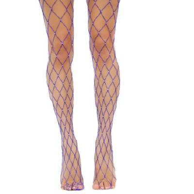 Diamente Fishnets Purple