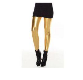 Metalic Leggings Gold OS