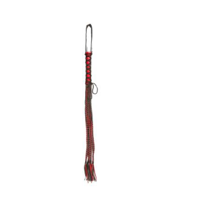 Whip Flogger Red Lace Up