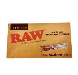 Raw Round Mouthpiece Glass Tip